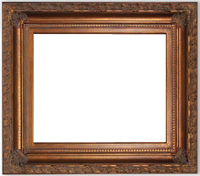 "6"" WIDE Gold leaf ornate antique family Oil Painting Wood Picture Frame 9202DG"