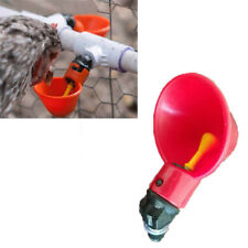 Poultry Chicken Water Drinking Cups Waterer Hen Plastic Automatic Drinker 5Pcs