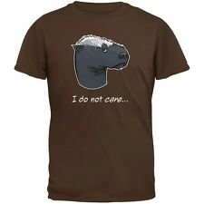 Honey Badger I Do Not Care Brown Adult T-Shirt