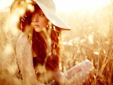 Hot Redhead Girl Nature Hat Wall Print POSTER AU