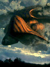 UFO Spaceship Nature Clouds Art Wall Print POSTER CA