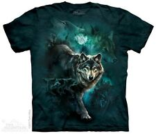 New The Mountain Night Wolves Collage T Shirt