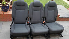 FORD S MAX TITANIUM    SET OF THREE REAR  FOLD FLAT SEATS WITH ISOFIX POINTS
