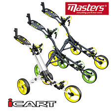 MASTERS iCART ONE 3 WHEEL PUSH CART GOLF TROLLEY NEW 2017 MODEL