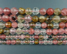 Wholesale Cherry Quartz Gemstone Beads Round Faceted Beads 4mm 6mm 8mm 10mm 12mm