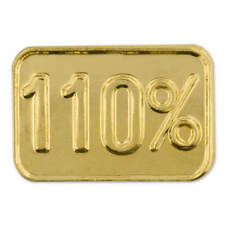 PinMart's Gold Plated 110% Corporate Motivation Employee Lapel Pin