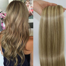 Blonde #16/613 Tape in Remy PU Skin Peruvian Human Hair Straight Extensions Weft