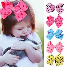 8 Inch Cute Girl Bow Grosgrain Hairpin large Ribbon Butterfly Hair Band Children