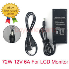 72W 12V 6A  AC Adapter Laptop Charger Power Supply Cord for LCD Monitor