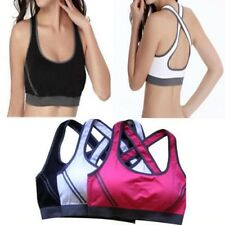 Sexy Woman Sports Bra Padded Fitness Running Clothes Underwear Tennis Vest Crop