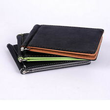 Sheside Mens Card Coin Pockets Bifold Money Clip Leather Holder Wallets Purse