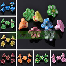 Wholesale 10pcs/50pcs 15mm Mixed Polymer Fimo Clay Flowers Spacer Loose Beads