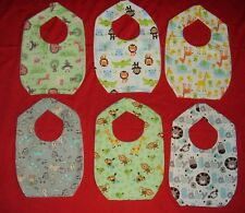 NEW cute BABY BIB Jungle Safari monkey zebra elephant croc lion frog duck zoo