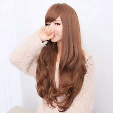 Women Long Curly Wavy Full Wig Heat Resistant Hair Cosplay Party Grace Best