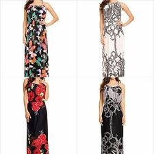 Ladies Maxi Dress for Tall Womens Strappy Full Length Summer Beach Size 8 - 20