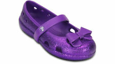Crocs Girls Keeley Hi Glitter Bow Flat