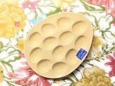 Easter Porcelain Deviled Egg Platters Pastel Solid Color Handcrafted in Portugal