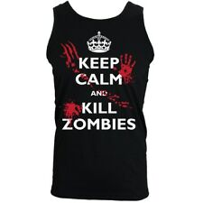 Keep Calm And Kill Zombies Men's Black Vest