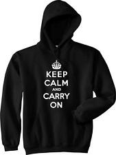 KEEP CALM CARRY ON Chive Chivery KCCO British Meme War Poster Hoodie NEW Black