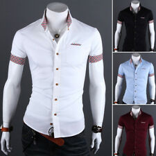 Luxury Men Stylish Slim Fit Polo Shirts Short Sleeves T-shirts Casual Tops Blous