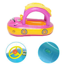 New Float Boat Child  Sunshade  Water  Cute Car Swim ring Inflatable