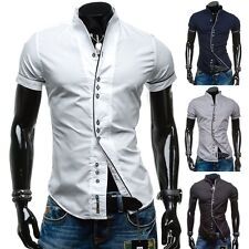 BOLF Men's Leisure Shirt Short Sleeve Mens Slim Fit Party Mix 2B 2 Casual