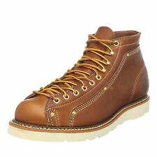 Thorogood Lace-To-Toe Roofer 814-4233 Brown Mens Oily Leather Chukka Wedge Boots