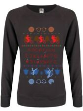 Upside Down Town Christmas Jumper Women's Graphite Grey Sweater
