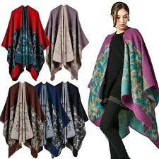 NEW Winter Women Sweater Pashmina Poncho Cape Cardigan Scarf Shawl Outwear M8G0