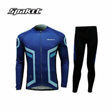 SPAKCT Men's Long Sleeves Cycling Jersey Pants Tights Set Bike Riding Suits