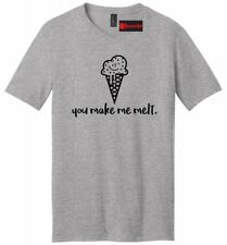 You Make Me Melt Mens V-Neck T Shirt Valentines Day Gift Ice Cream Graphic Tee