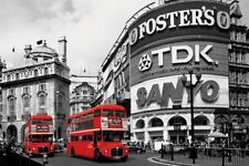 New Piccadilly Circus Red Buses Poster