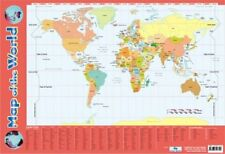 New Map Of The World Educational Map Mini Poster