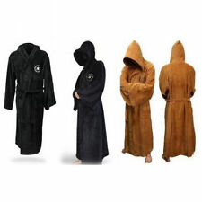Halloween Adult Star Wars Jedi Soft Fleece Hooded Brown Bathrobe-Gown-Bath.Robe#