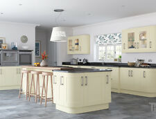 Cream Ivory Kitchen Base and Wall Units Cabinets Complete New