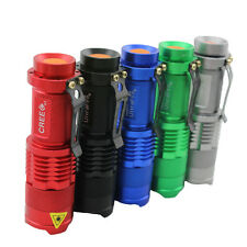 Mini CREE Q5 AA/14500 3 Modes Zoomable LED Light Flashlight Police Torch Lamp