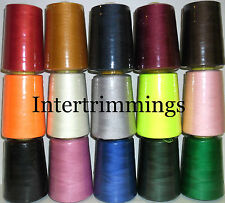 HIGH QUALITY STRONG 75s SEWING THREAD SPUN POLYESTER, 5000YRDS, ASSORTED COLS X1