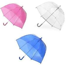 KIDS Totes CLEAR BLUE PINK Plastic BUBBLE Umbrella NEW Childrens Size