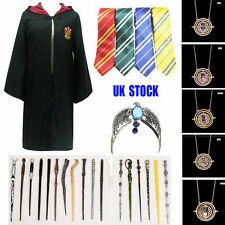 HARRY POTTER Tie COSPLAY Wand Gryffindor Cloak Robe CAPE Costume Necklace