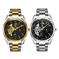 Luxury TEVISE Stainless Steel Auto Mechanical Men's Date Moon Luminous Watch