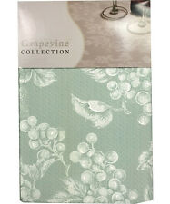 NEW Grape Vine Vinyl Tablecloth - Sage