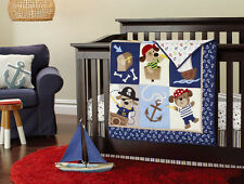 Baby Cot Crib Quilt / appliqued and embroidered comforter
