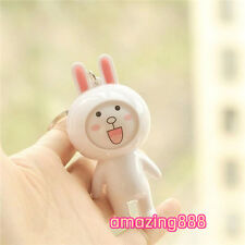 adorable changing face bunny bear yellow duck key chain pendant plastic doll