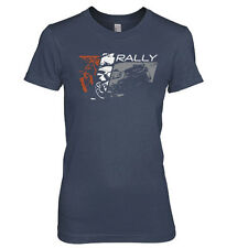 LADIES T-SHIRT RALLY CAR HEATHERED NAVY Subaru WRX STi Blobeye Travis Pastrana