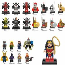 Deadpool Super Heroes Rome Army Soldiers DC Avengers Building Blocks Bricks Toys