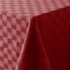 NWT Food Network Stain Resistant Microfiber Tablecloth Red Oblong (rectangle)