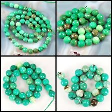 "Wholesale Smooth Natural Green Moss Opal Round Beads Spacer 15"" 6 8 10 12 16mm"