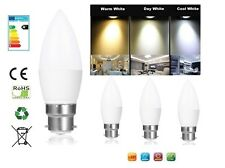 B22 BC 5W Non Dimmable LED Candle Light Bulb Cool Day Warm White SMD Desk Lamp