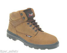 Toesavers 1201 S3 SRC Midcut Hiker Brown Leather Steel Toe Cap Safety Work Boots
