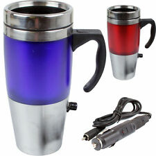 12v Stainless Steel Auto USB Heated Travel Mug Car Flask With USB Charger NEW